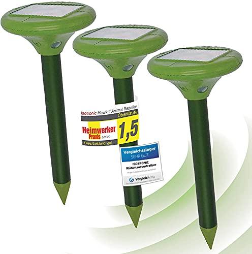 ISOTRONIC Solar LED Maulwurfabwehr Vibrasonic mit...