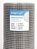 KrapTrap® 12.7 mm Masche, 20m x 1m Volierendraht,...