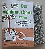 Wuehlmauskorb für SträucherRosen/Zwiebeln, verzinkt
