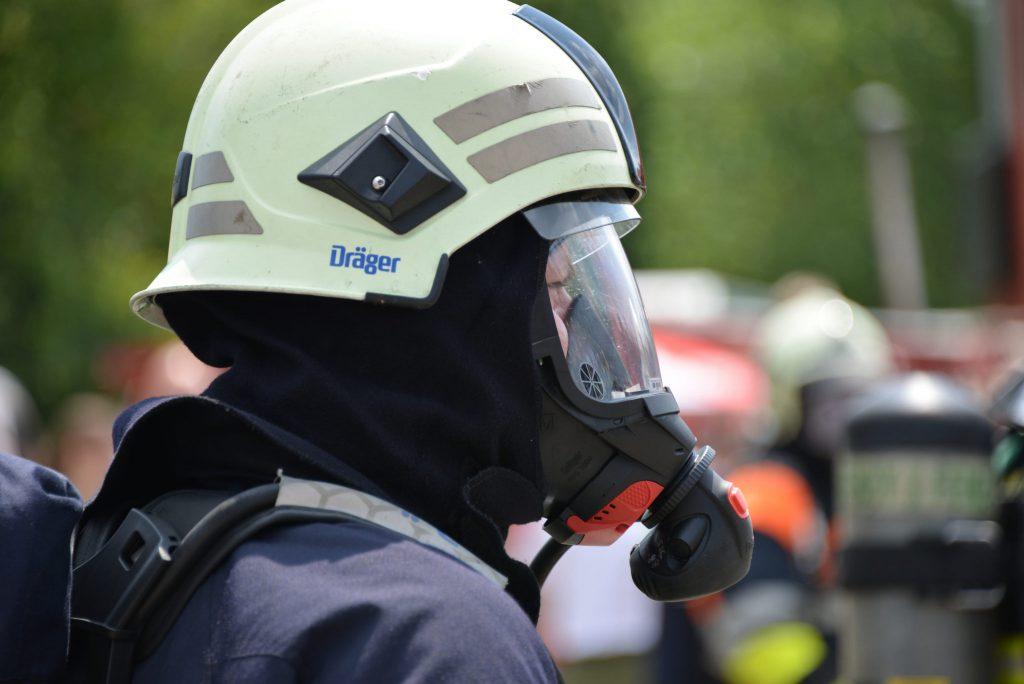Karbid Atemschutz und Schutzbrille